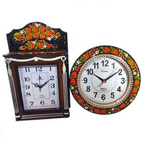 Сувенирные часы хохлома