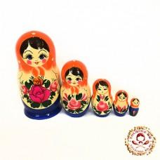 """Матрешка 5 кукольная большая """"Семёновская гуашь"""""""
