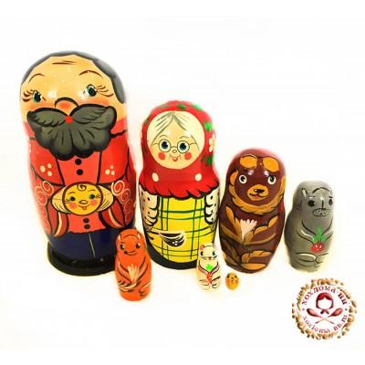 "Матрешка ""Колобок"" 7 кукольная"