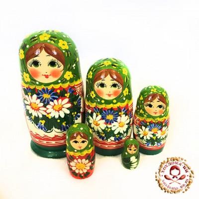"Матрешка ""Ромашковый луг"" 5 кукольная"