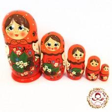 """Матрешка """"Веточка орешков"""" 5 кукольная"""