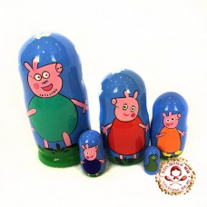 "Матрешка ""Свинка Пеппа"" 5 кукольная"