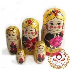 """Матрешка традиционная 5 кукольная """"Сударушка"""""""