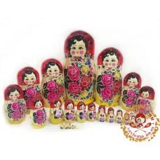 Матрешка традиционная 25 кукольная
