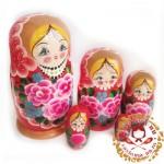 """Матрешка """"Розы"""" 5 кукольная"""