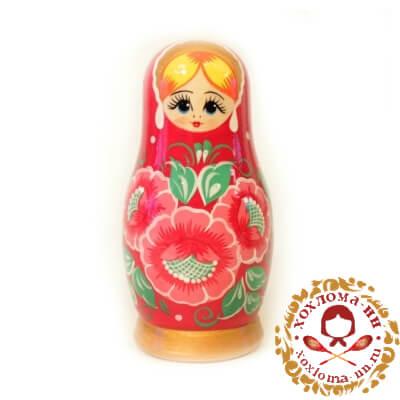 """""""Вятка красная малая"""" матрешка из 5 кукол"""