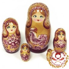 """Матрешка """"Золотой петушок"""" 5 кукольная"""