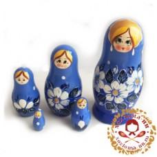 """Матрешка """"Вятка синяя"""" 5 кукольная"""