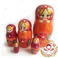 """Матрешка """"Бусы"""" 5 кукольная"""