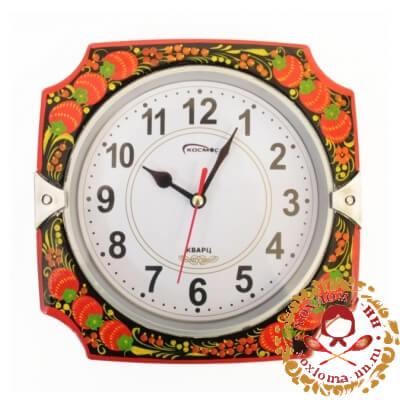 Часы с хохломской росписью